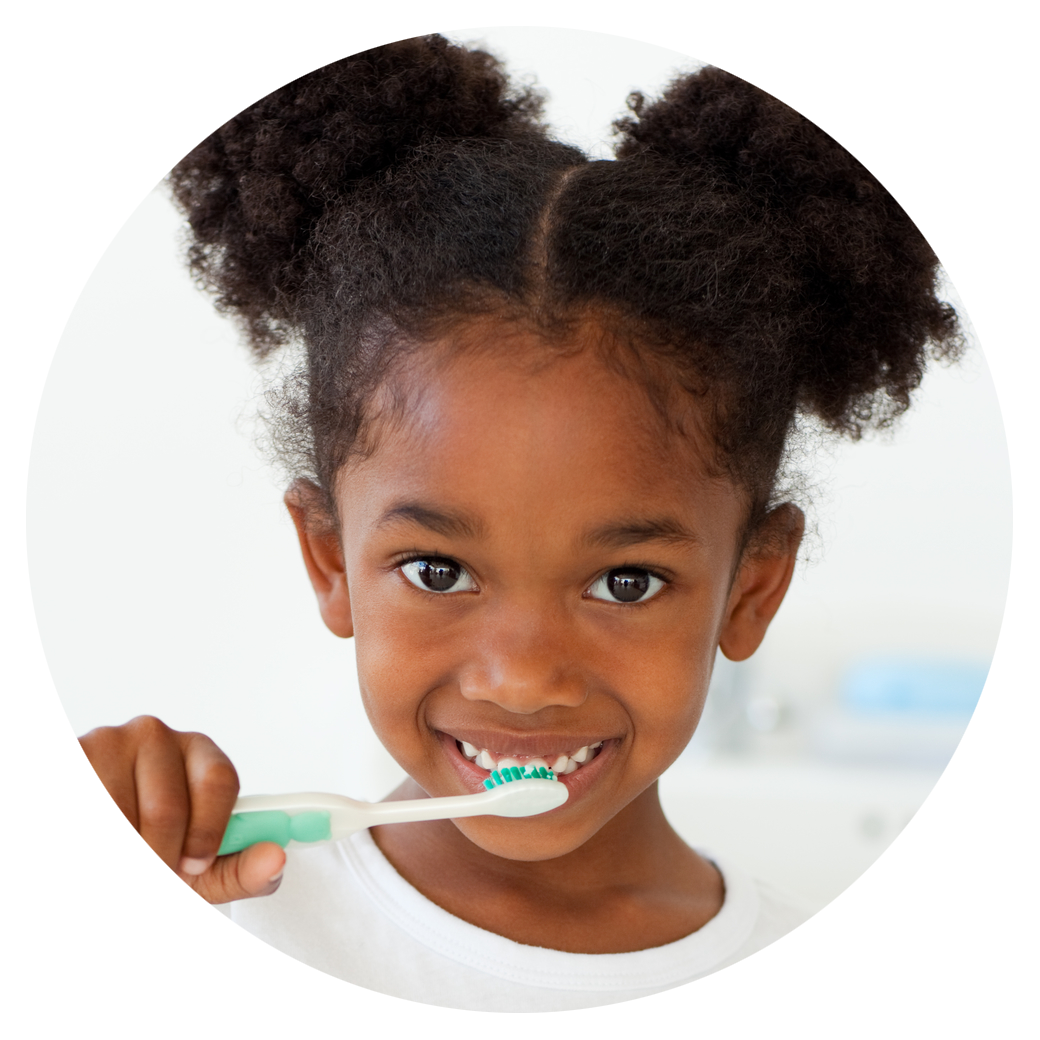 Happy young girl brushing her teeth - specialsmilesdentistry.com