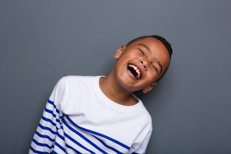 smiling black kid