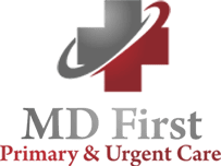 MDFirst Health and urgent care logo