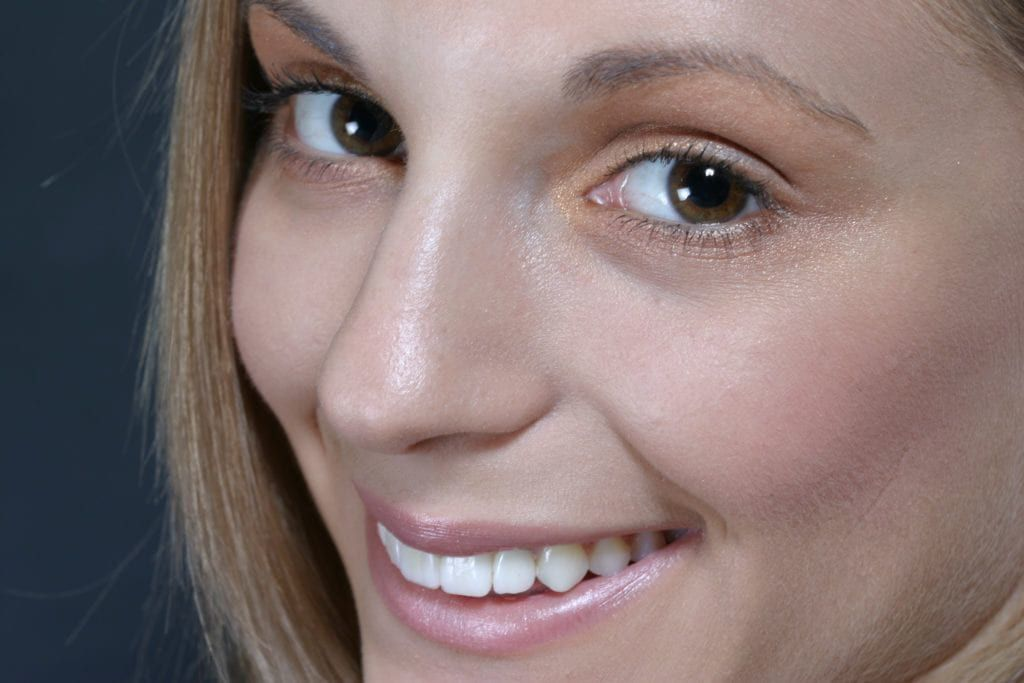 up close photo of a woman's face