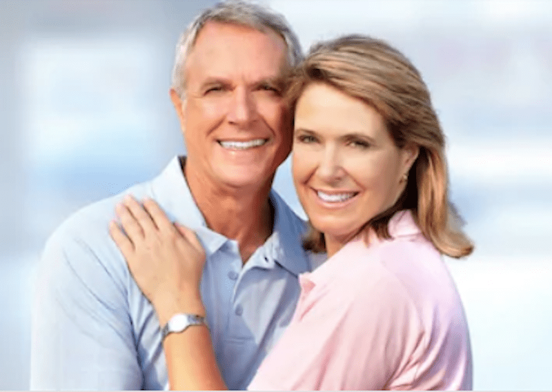 middle age couple smiling