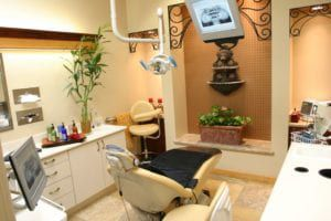 Warm & Relaxing Treatment Suites with Tranquil Fountains, Aromatherapy, Paraffin Wax Treatments, Dental Chair Massage Pads and a Library of DVDs and CDs
