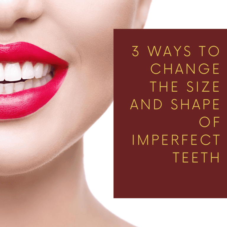 """Infograph for """"3 ways to change the size and shape of imperfect teeth"""""""