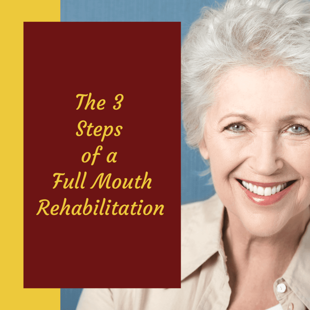 Info graph of The 3 Steps of a Full Mouth Rehabilitation