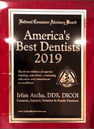 American Best dentists 2019 Dr. Irfan Atcha DDS