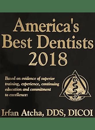 American Best dentists 2018 Dr. Irfan Atcha DDS