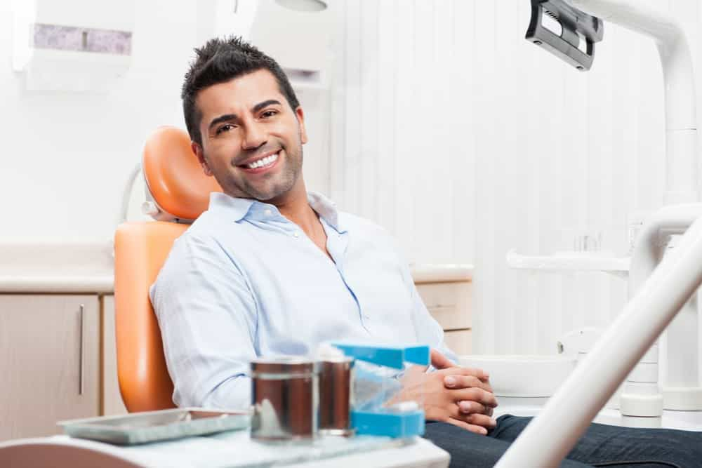 featured imaged for services post, hispanic male sitting in dental chair waiting for comprehensive work