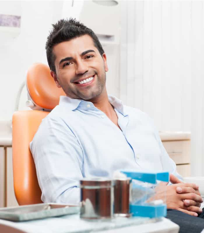 dental patient waiting in dental chair for comprhensive work